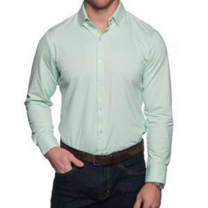 Mizzen and Main Light Green Gingham Shirt